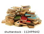 old books isolated on white | Shutterstock . vector #112499642