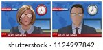 breaking news banners set with...   Shutterstock .eps vector #1124997842