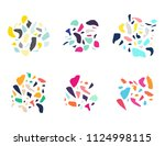 set of abstract design elements ... | Shutterstock .eps vector #1124998115