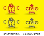 civic day holiday canada logo... | Shutterstock .eps vector #1125001985