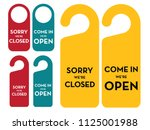 sorry  we're closed and come in ... | Shutterstock .eps vector #1125001988