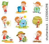 vector illustration of little... | Shutterstock .eps vector #1125004298