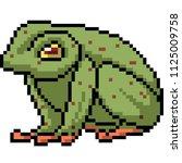 vector pixel art poison frog... | Shutterstock .eps vector #1125009758