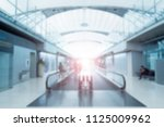 blur background of escalator... | Shutterstock . vector #1125009962