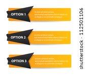 vector paper progress... | Shutterstock .eps vector #112501106