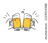 it is a toasting beer... | Shutterstock .eps vector #1125014588