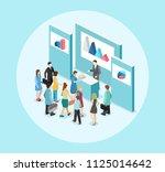 isometric flat 3d concept... | Shutterstock . vector #1125014642