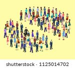 isometric flat 3d isolated... | Shutterstock . vector #1125014702