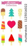 set of nine different sweet ice ... | Shutterstock . vector #1125016022