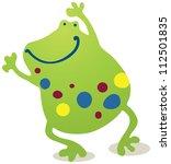 dancing frog | Shutterstock .eps vector #112501835