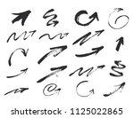 vector grunge black arrows... | Shutterstock .eps vector #1125022865