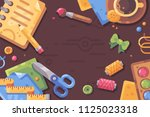 creative workplace flat...   Shutterstock .eps vector #1125023318