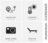 set of 4 editable trip icons....