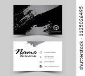 modern business card design.... | Shutterstock .eps vector #1125026495