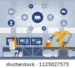 industry 4.0 smart factory... | Shutterstock .eps vector #1125027575