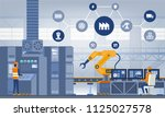industry 4.0 smart factory... | Shutterstock .eps vector #1125027578