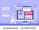 data analysis design concept.... | Shutterstock .eps vector #1125027632