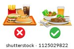 useful diet choices. choose... | Shutterstock .eps vector #1125029822