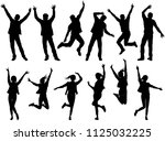 illustration with happy people... | Shutterstock .eps vector #1125032225