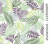 tropical background with palm... | Shutterstock .eps vector #1125033605