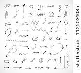 hand drawn arrows  vector set | Shutterstock .eps vector #1125034085