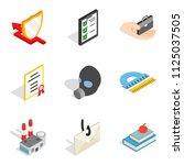framework icons set. isometric... | Shutterstock . vector #1125037505
