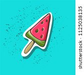 ice cream with watermelon taste ...   Shutterstock .eps vector #1125038135