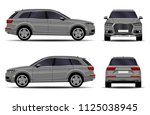 realistic suv car. front view ... | Shutterstock .eps vector #1125038945