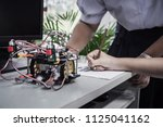 student learning stem education ... | Shutterstock . vector #1125041162