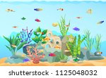 sea plants with different... | Shutterstock .eps vector #1125048032