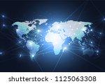 global network connection....   Shutterstock .eps vector #1125063308