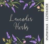 botanical flowers poster. the... | Shutterstock .eps vector #1125066068