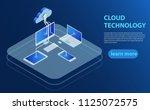 cloud computing technology... | Shutterstock .eps vector #1125072575