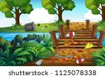 a forest full of trash... | Shutterstock .eps vector #1125078338