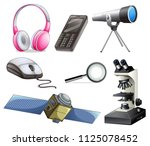 a set of technology equipments... | Shutterstock .eps vector #1125078452
