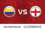 colombia vs england background... | Shutterstock .eps vector #1125080642