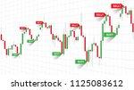 forex trade signals vector... | Shutterstock .eps vector #1125083612