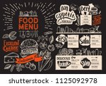 food menu for restaurant.... | Shutterstock .eps vector #1125092978