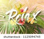 bright exotic summer design... | Shutterstock . vector #1125094745