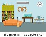 vector living room interior... | Shutterstock .eps vector #1125095642