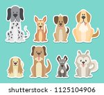 sticker collection of different ... | Shutterstock .eps vector #1125104906
