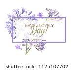 vector banner with purple... | Shutterstock .eps vector #1125107702