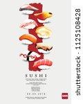 poster of sushi restaurant...   Shutterstock .eps vector #1125108428