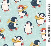 seamless pattern with cute... | Shutterstock .eps vector #1125110318