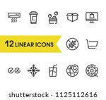 cross tick icon with cart ...