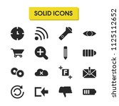 user icons set with see  pencil ...