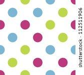 seamless tri color kiddie polka ... | Shutterstock .eps vector #112511906