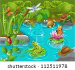 animals in the pond | Shutterstock .eps vector #112511978