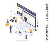 modern flat design isometric... | Shutterstock .eps vector #1125121805