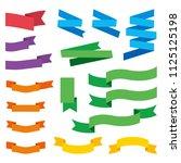 flat style ribbon illustration...   Shutterstock .eps vector #1125125198